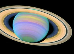 Saturn in Ultraviolet Light